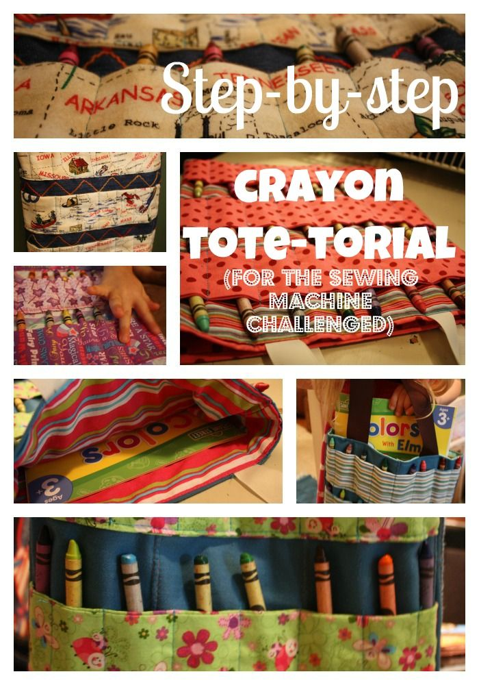 Crayon Coloring Book Tote Bag Perfect For Toddlers And Preschoolers The Tutorial Is
