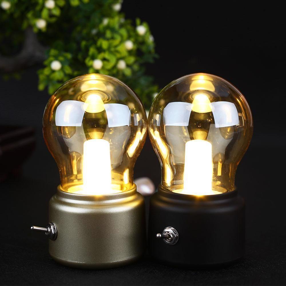 Retro Led Light Bulb Classical Blowing Usb Rechargeable Decoration Desk Lamp Abs Feimefeiyou With Images Led Desk Lamp Led Light Bulb Lamp