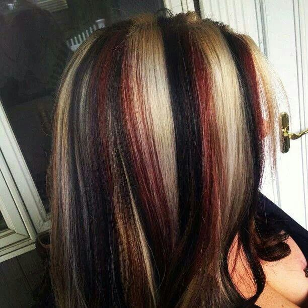 Blonde Red Black Hair Ideas Pinterest Red Black Blondes And