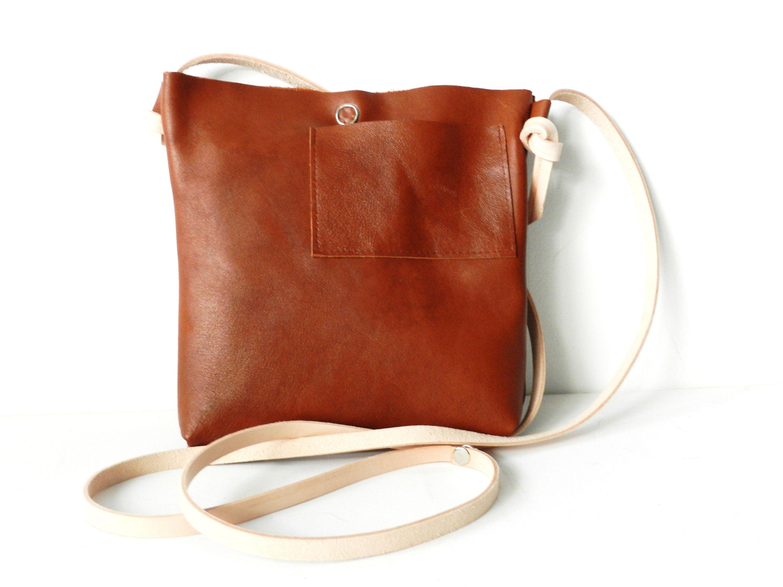 Uitgelezene Leather Bag  Leather Handbag  Leather Crossbodybag  Brown Leather OJ-12