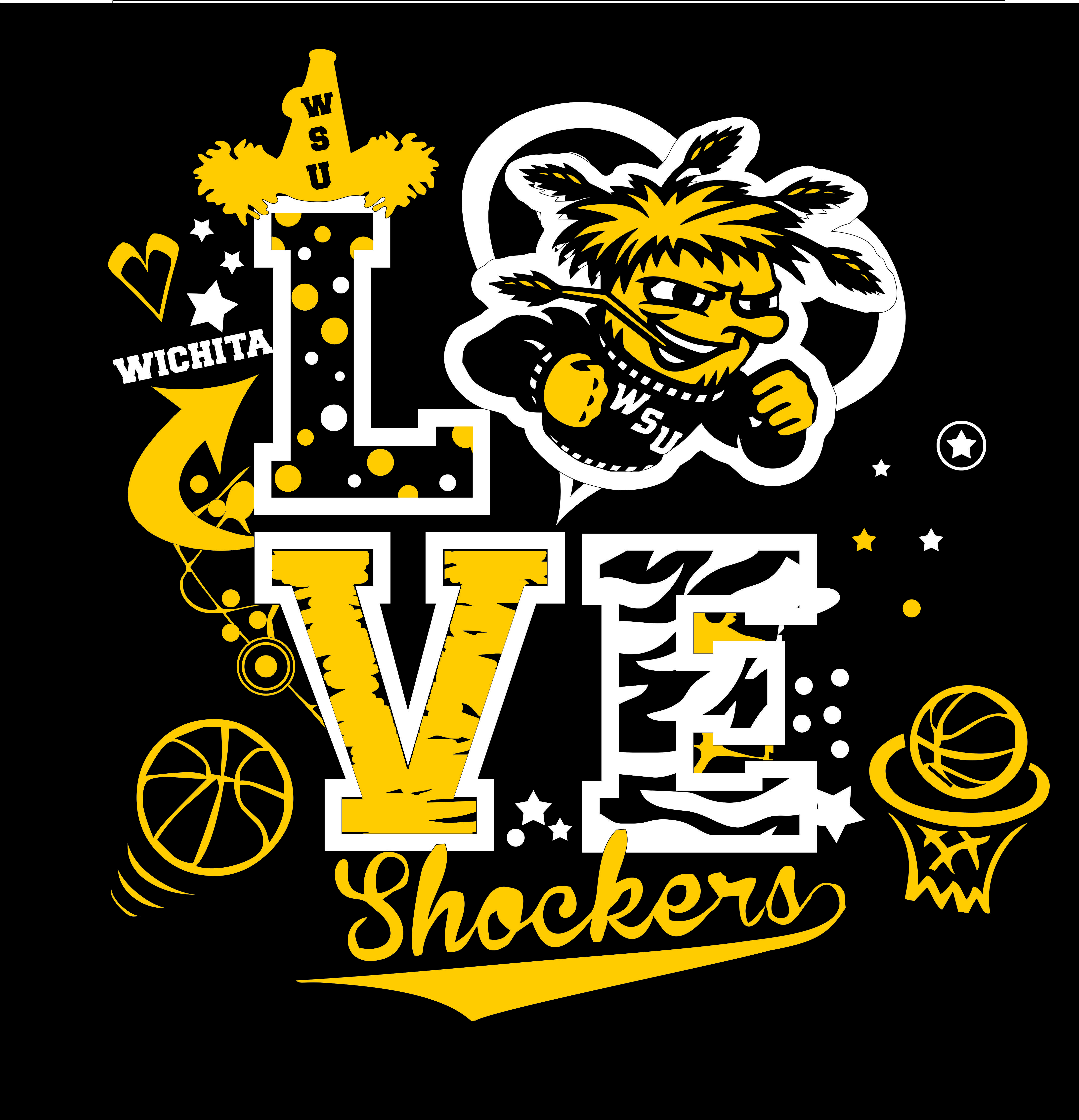 Wichita State Shocker T Shirt Design By Whitefish Creations