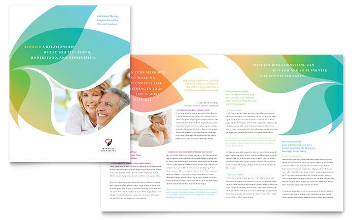 Marriage Counseling Brochure Design Template By Stocklayouts