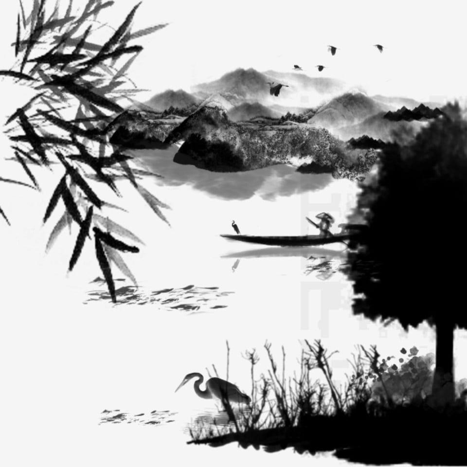Vector Paisaje Pintado A Mano Tinta China Vector Chino Vector De Paisaje Tinta Png Y Psd Para Descargar Gratis Pngtree Tinta China Dibujos Tinta China Ilustraciones De Tinta
