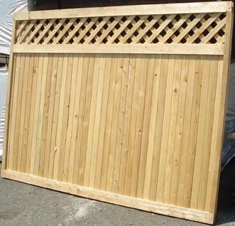 New Canaan Good Neighbor Cedar Fence Lattice Top 6ft H X 8ft Wide Attached Diagonal Lattice Topper Pre Built Same Finish On Both Sides Fence With Lattice Top Cedar Fence