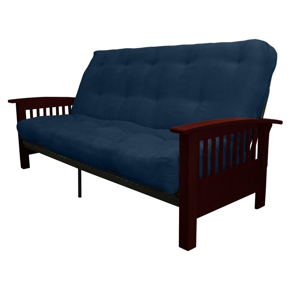 Stickley inch cottonfoam futon sofa sleeper mahogany wood