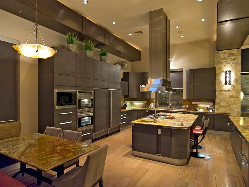 53 Highend Contemporary Kitchen Designs With Natural Wood Glamorous Kitchen Designs With High Ceilings Decorating Inspiration