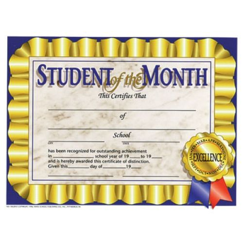 printer compatible certificates awards student of the month
