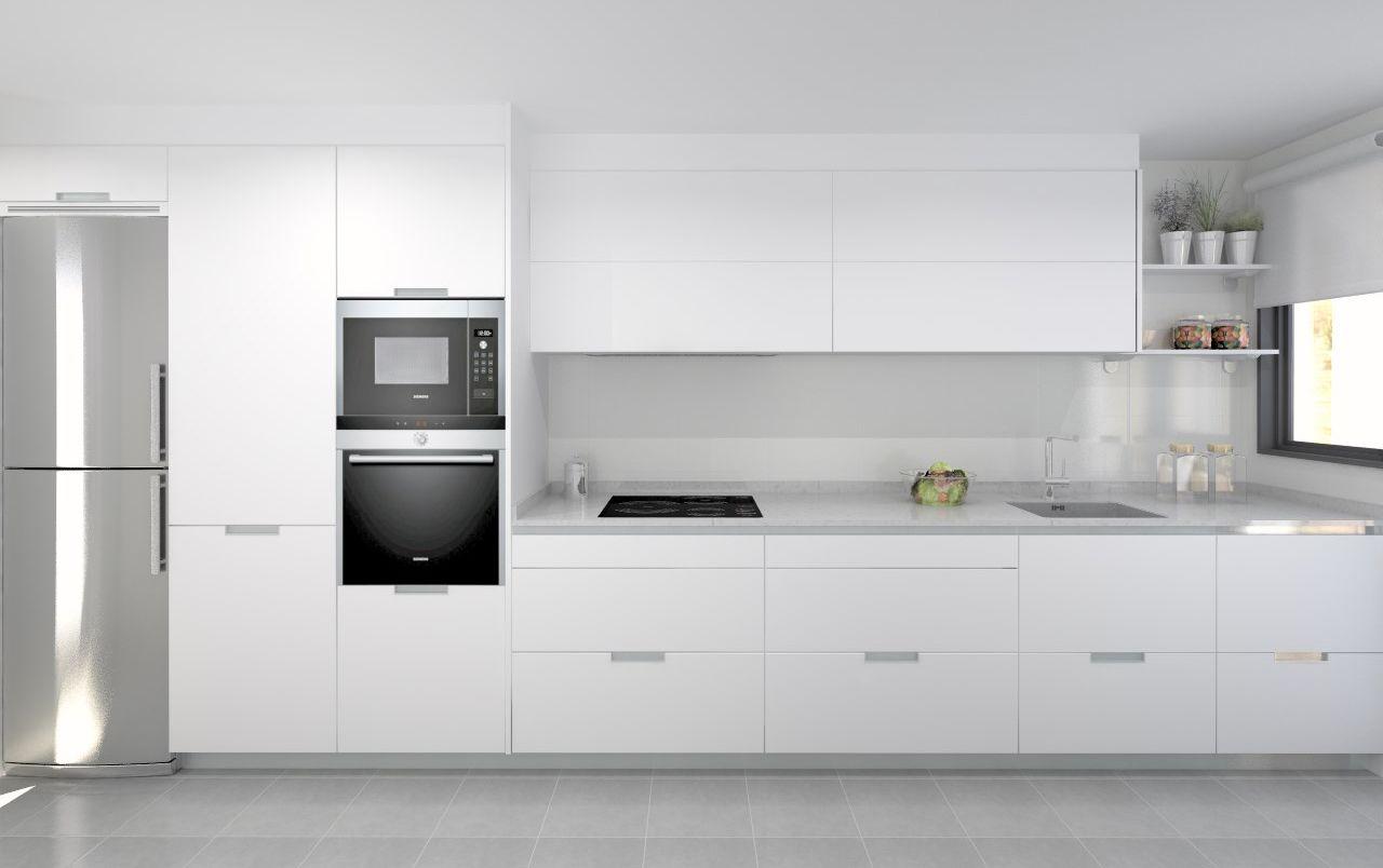 Cocina Santos Modelo Minos E Blanco Encimera Silestone Blanco