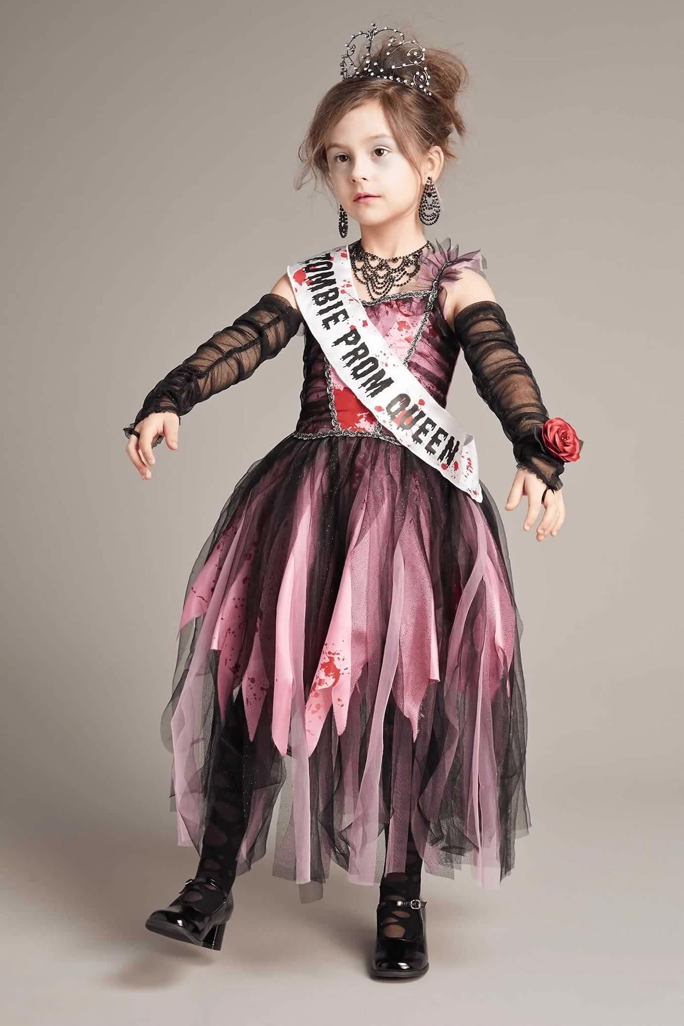 Scary Halloween Costumes For Kids Girls Uk.Zombie Prom Queen Costume For Girls Chasingfireflies 9 97