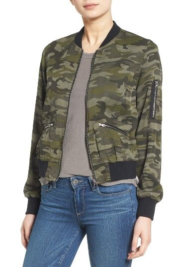 723b80462ba9e Free shipping and returns on C & C California Camo Print Bomber Jacket  at Nordstrom