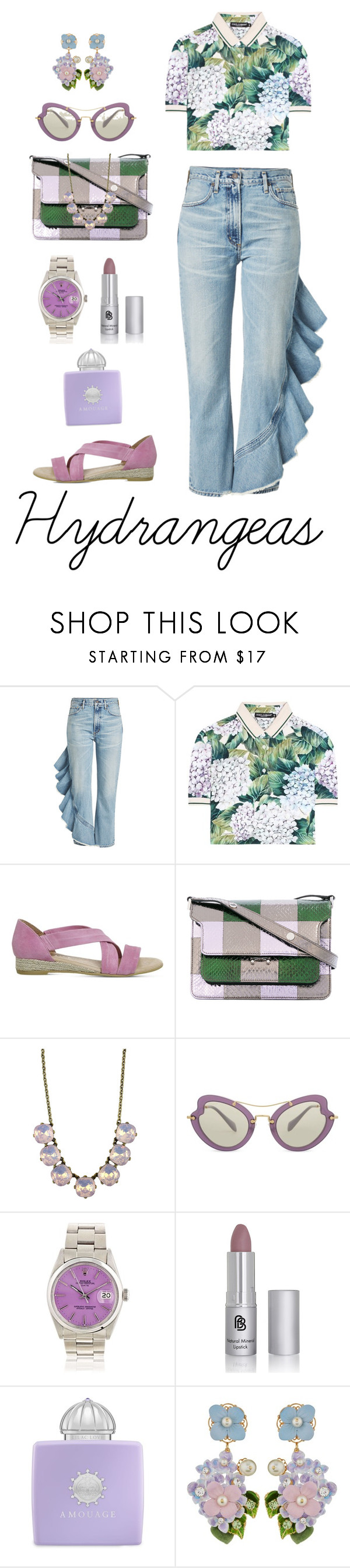 """""""Summertime Florals"""" by shamrockclover ❤ liked on Polyvore featuring Citizens of Humanity, Dolce&Gabbana, Office, Marni, Miu Miu and AMOUAGE"""