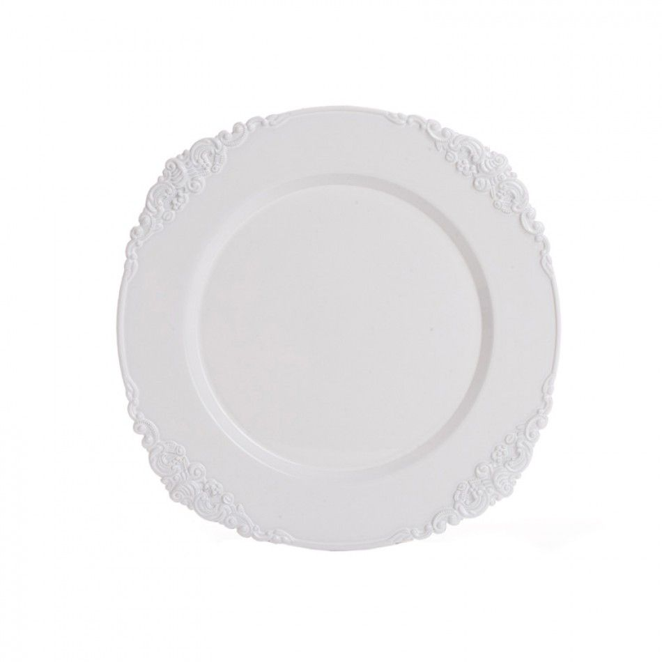 White Vintage Charger Plates BULK (24 Plates) [402596 White Vintage Charger]  Wholesale Wedding Supplies Discount Wedding Favors Party Favors and Bulk ...  sc 1 st  Pinterest & White Vintage Charger Plates BULK (24 Plates) [402596 White Vintage ...