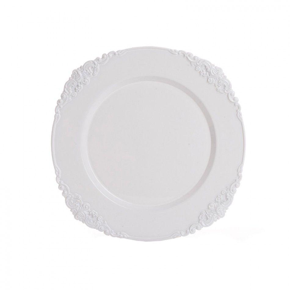White Vintage Charger Plates BULK (24 Plates) [402596 White Vintage Charger]  Wholesale Wedding Supplies Discount Wedding Favors Party Favors and Bulk ...  sc 1 st  Pinterest & White Vintage Charger Plates BULK (24 Plates) [402596 White Vintage ...