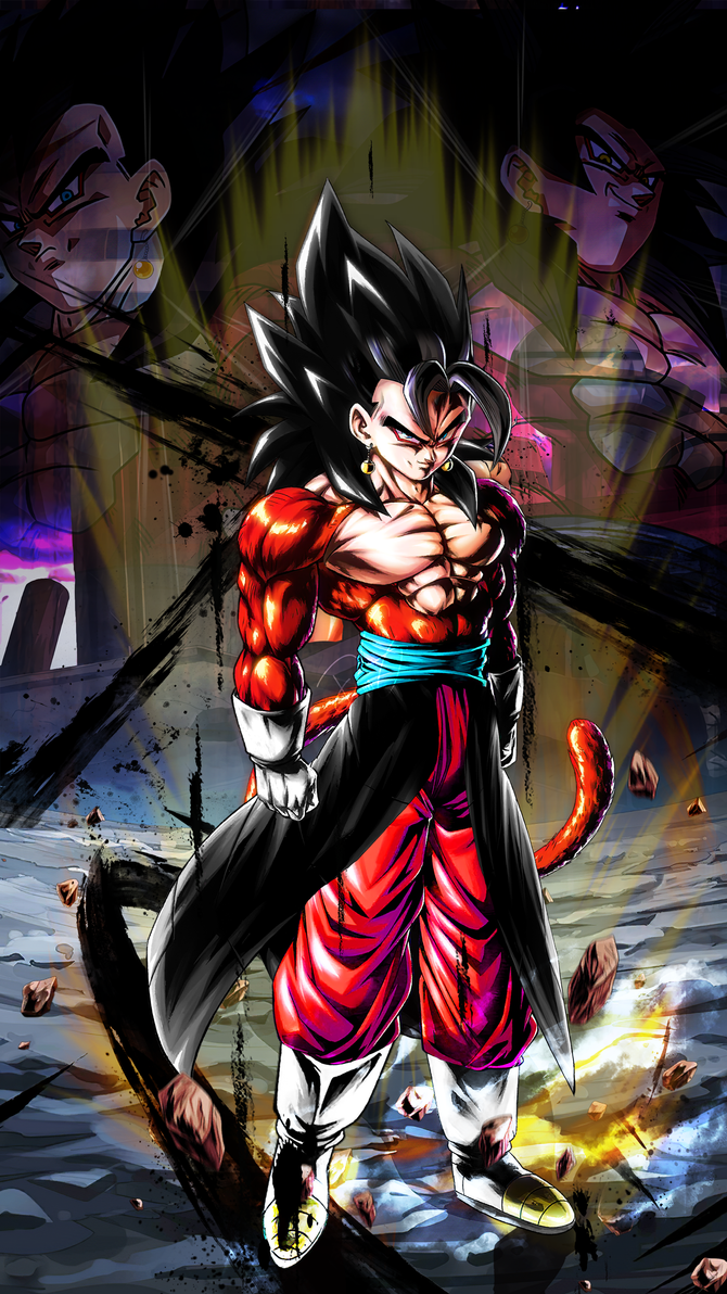 Xeno Vegito Ssj4 Legends Custom Mobile Wallpaper By Davidmaxsteinbach On Deviantart In 2020 Anime Dragon Ball Super Dragon Ball Tattoo Dragon Ball