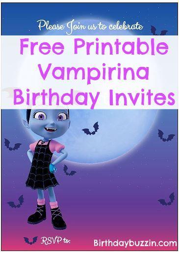 Free printable vampirina birthday invitations digital paper craft free printable vampirina birthday invitations filmwisefo