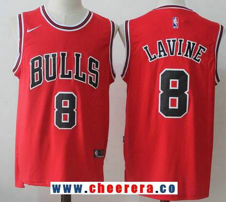 Men s Chicago Bulls  8 Zach LaVine Red 2017-2018 Nike Swingman Stitched NBA  Jersey 412fd283e