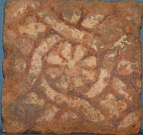 Medieval Floor Tile, Mid- 14th Century