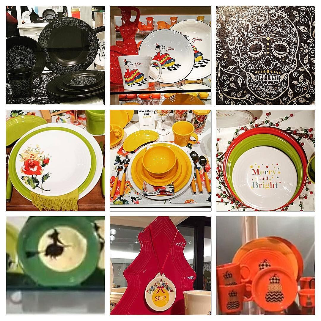 Fiesta® Dinnerware ~ new in 2017  sc 1 st  Pinterest & FIESTA 2017 new color release DAFFODIL (pictured center) new SUGAR ...