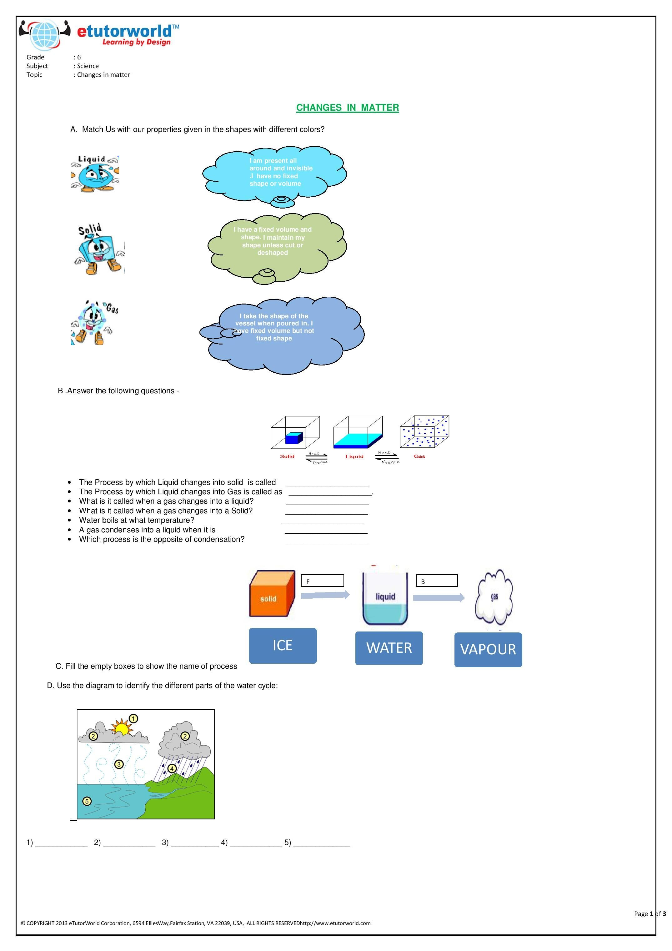 small resolution of Pin by eTutorWorld Inc on Grade 6 Science Worksheets   Fun science  worksheets