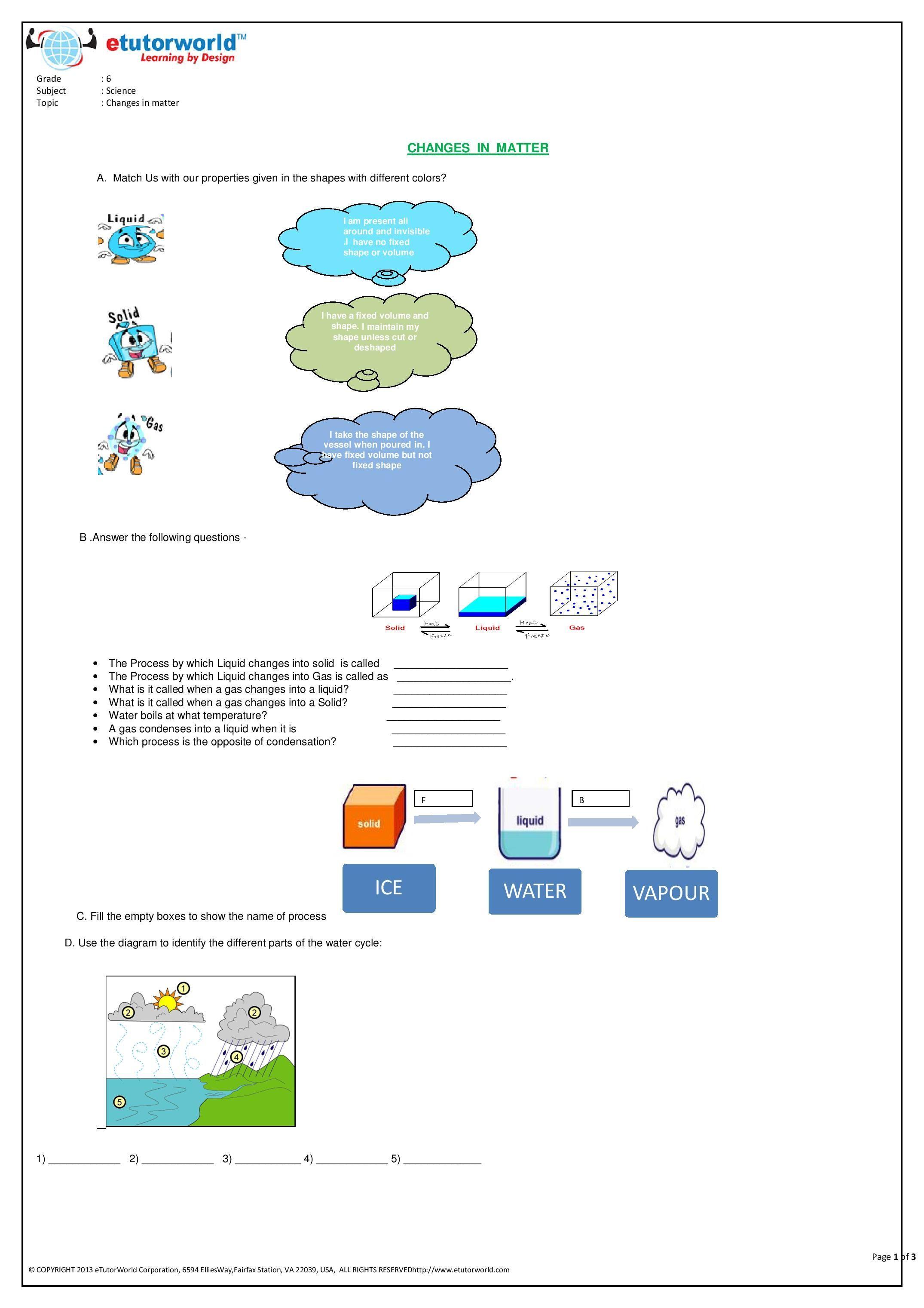 Pin by eTutorWorld Inc on Grade 6 Science Worksheets   Fun science  worksheets [ 3042 x 2150 Pixel ]