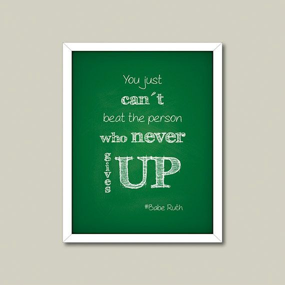 Quote Printable Person Who Never Gives Up Inspiration - statement letter