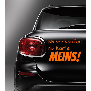 Autosticker Nix verkaufen