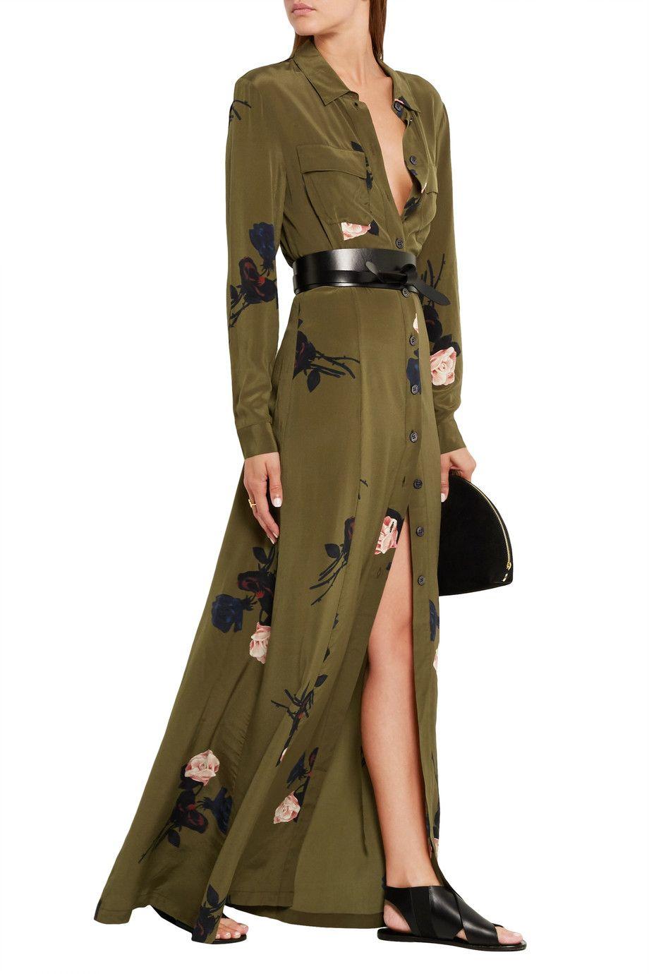 c0c50485 Shop on-sale GANNI Floral-print silk crepe de chine maxi dress. Browse  other discount designer Dresses & more on The Most Fashionable Fashion  Outlet, ...