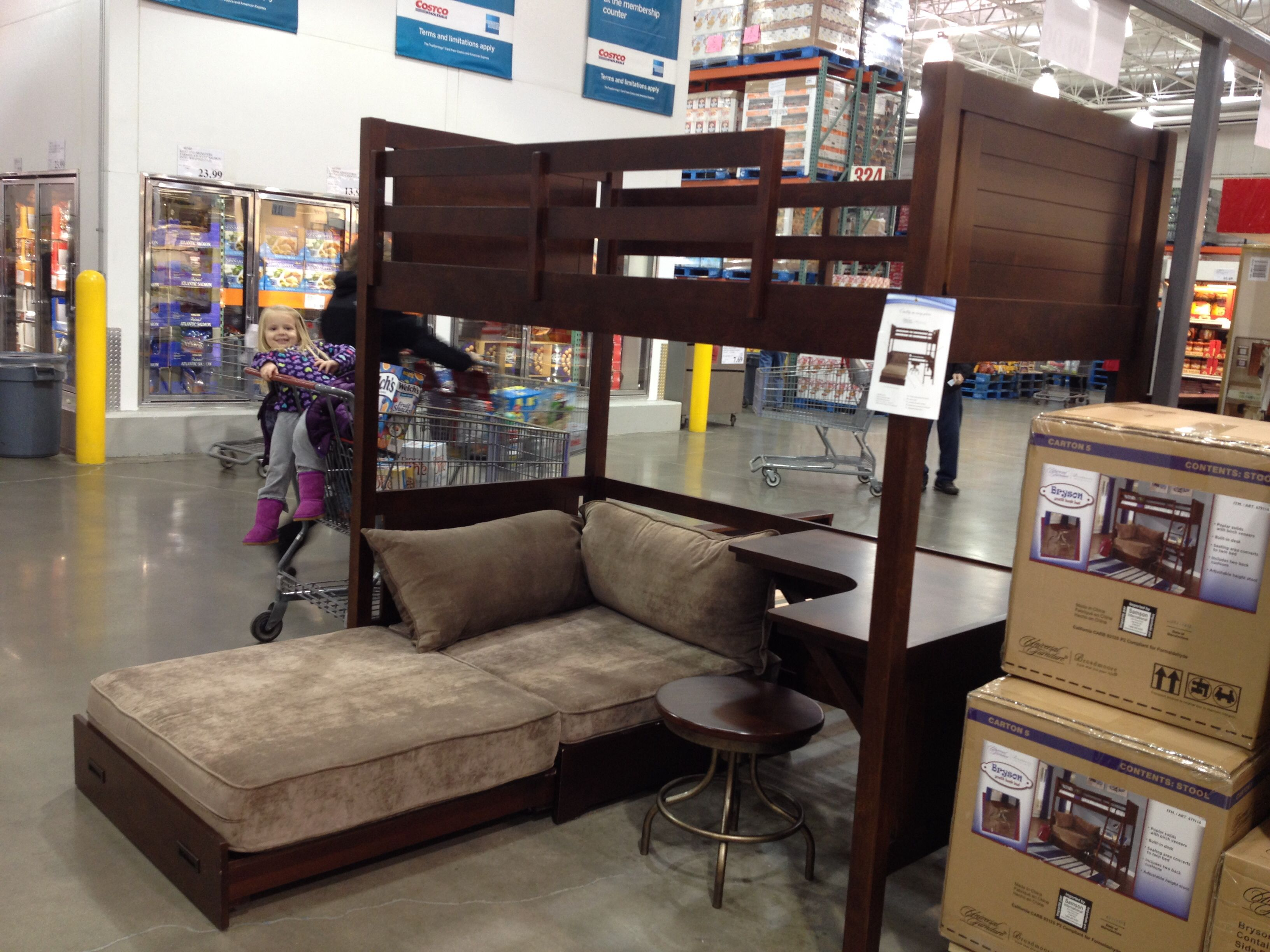 kids bunk bed with stairs barn would love to get both kids one of these bad boys from costco perfect costco