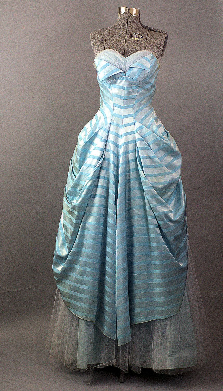 Vintage 1960 S Shelf Bust Cupcake Prom Dress 1960 S Etsy Vintage Evening Gowns Dress Accessories Blue Prom Gown [ 1500 x 857 Pixel ]
