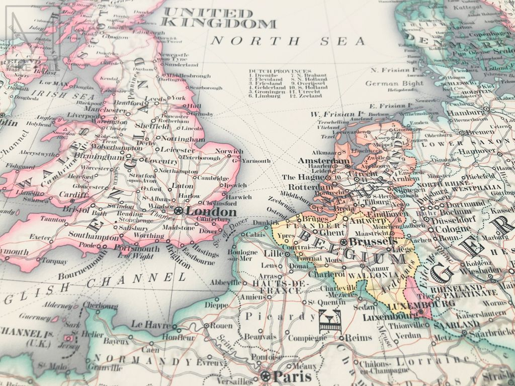 Antique Style Map Of Europe On Behance Europe Map Map Antique Style