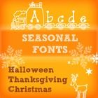 Seasonal Fonts - Halloween, Thanksgiving, and Christmas