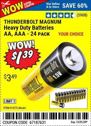 Thunderbolt C Heavy Duty Batteries 6 Pk For 1 99 Harbor Freight Tools C Batteries Heavy Duty