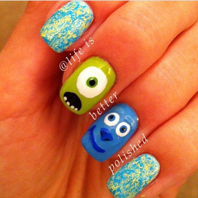 Mike Wazowski! | uñas | Pinterest