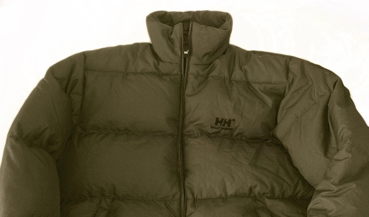 34d98e8d6 Vintage 90s Helly Hansen Big logo Spell Out Goose Down Puffer Jacket ...