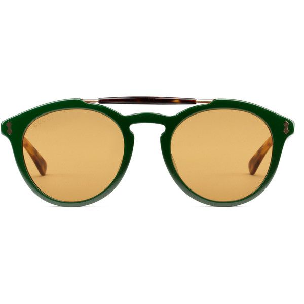 810fccedcf4 Gucci Round-Frame Acetate Sunglasses ( 305) ❤ liked on Polyvore featuring  men s fashion