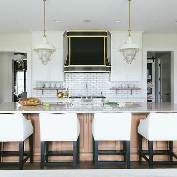 Caramel Colored Kitchen Island With White Slipcovered Counter Awesome Counter Stools For Kitchen 2018