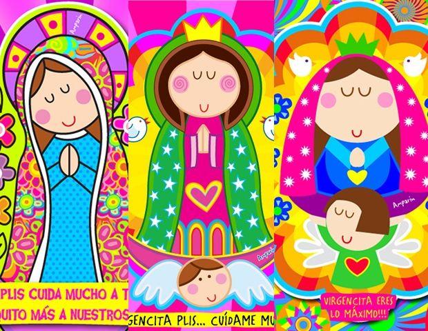 Fondos Pantalla Gratis Virgencitas Distroller Imagui Dibujos Imprimir Sobres Virgen Porfis