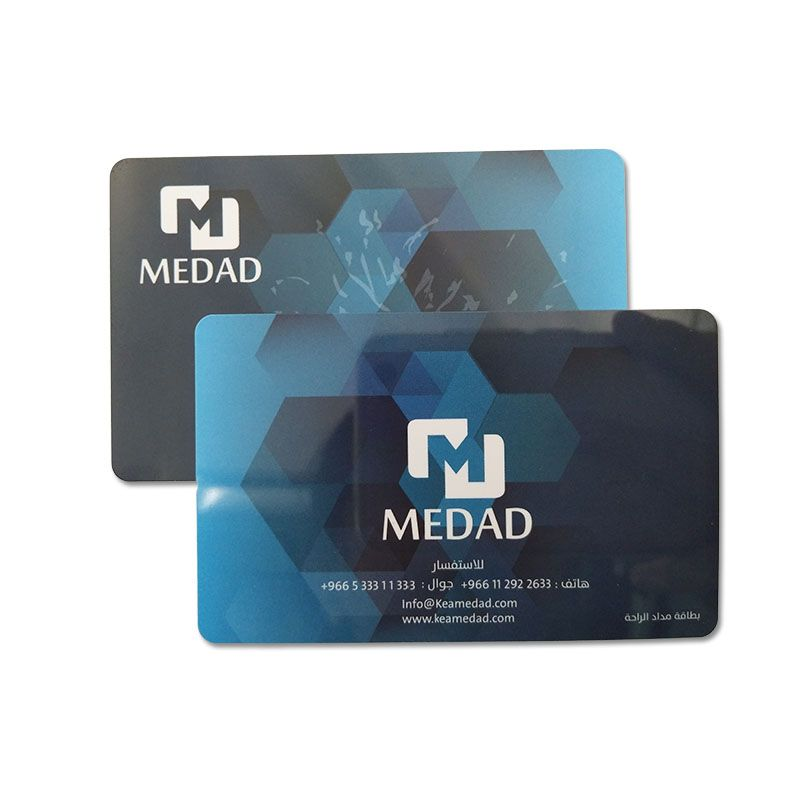 4 color plastic printing smart card 1356mhz pvc rfid card
