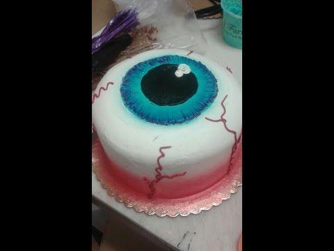 Eyeball Cake- Halloween- Cake Decorating - YouTube food