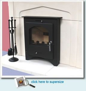 Bohemia X 40 Stove:  Our Price Only - £749 (inc VAT)  The Bohemia X Inset stove incorporates a large viewing window, secondary and primary air controls, airwash to keep the glass clean, full Skamolex lined fire chamber, twin baffle system, built in tertiary air to burn off any hydrocarbons and is simplicity itself to light.