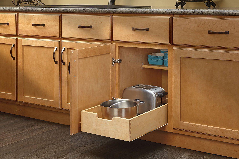 Amazon Com Rev A Shelf 4wdb 15 Medium Wood Base Cabinet Pull Out Drawer Home Kitchen Clean Kitchen Cabinets Kitchen Cabinets Kitchen Cabinets Decor
