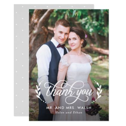wedding photography thank you cards