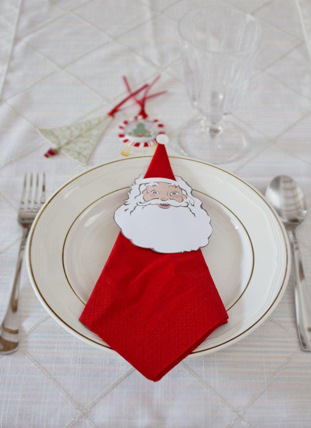 Rond De Serviette Noel Fait Maison porta servilletas navideño · christmas napkin holder