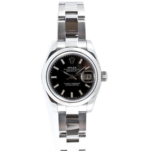Rolex Ladys New Style Heavy Band Stainless Steel Datejust Model 179160 Oyster Band Steel Smooth Bezel Bezel Black... $5,595.00 (save $0.00)