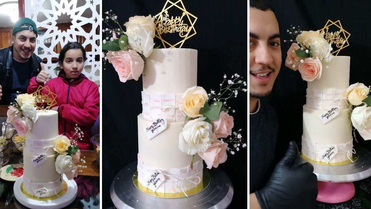 لاير كيك Layer Cake الاكتر طلبا بدون عجينة سكر كيفة تحضير اللاير كيك لاعياد الميلاد بأدق التفاصيل Youtube Cake Layer Cake Diaper Cake