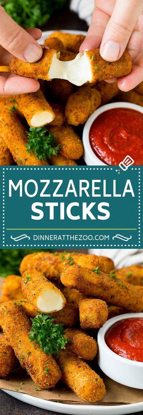 Mozzarella Sticks Recipe #cheese #appetizer #dinneratthezoo