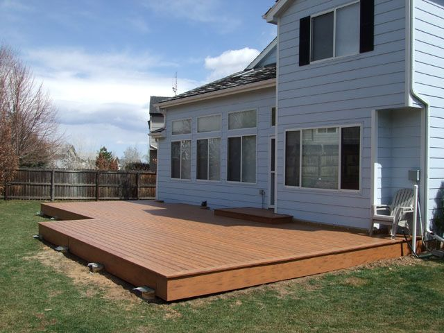 Low deck for the home pinterest low deck and decking for Low deck designs