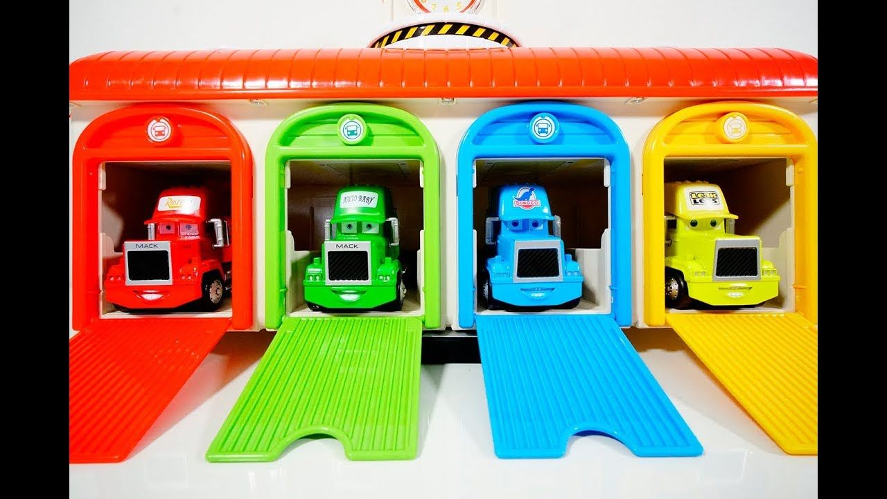 Learn Colors and Numbers with Disney Trucks & Cars, Tayo Garage ...