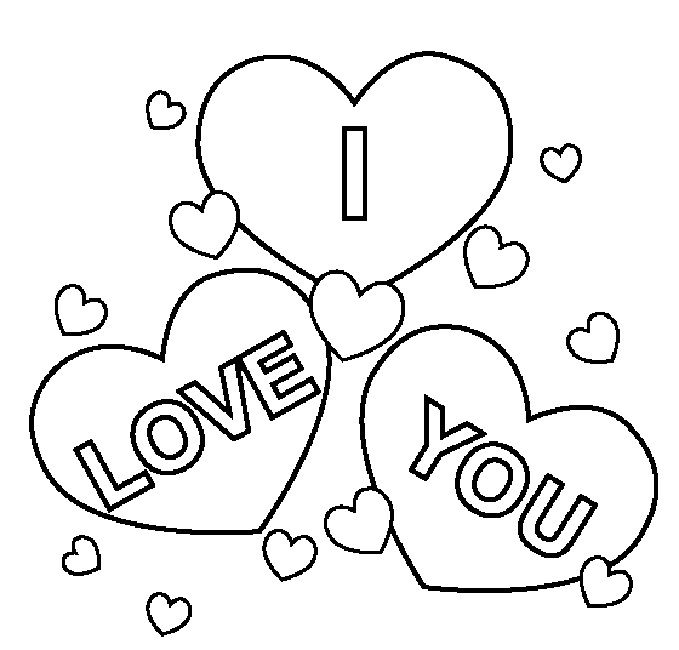 i love you coloring pages | Love | Love coloring pages, Valentines ...