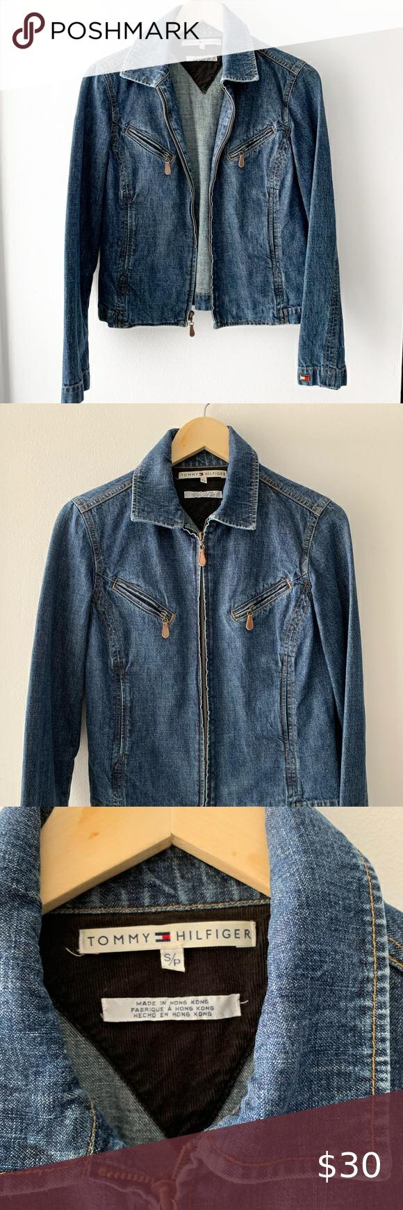 Vintage Tommy Hilfiger Denim Jean Jacket Vintage Denim Jacket Hilfiger Denim Lined Denim Jacket [ 1740 x 580 Pixel ]